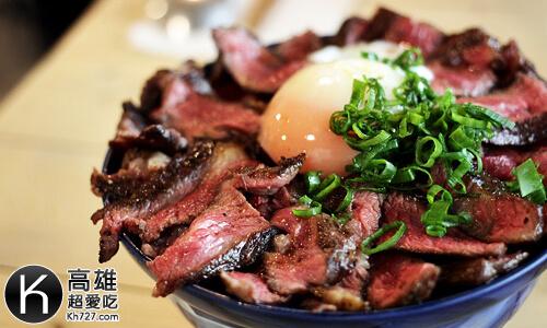 《初肉》prime背肩牛排丼搭配溫泉玉子