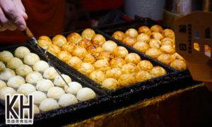 《日船章魚小丸子》煎的金黃酥脆的章魚燒