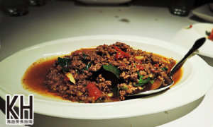 《紅舍》泰式料理的打拋豬肉