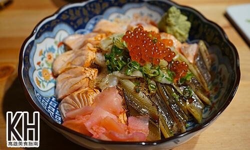 《風車驛站》炙燒鮭魚比目魚緣側拚日本星鰻丼飯