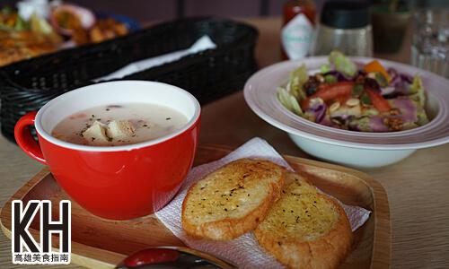 《暖暖輕食坊》沙拉+主廚濃湯+薄鹽奶油麵包
