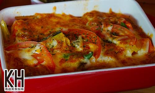 《暖暖輕食坊》奶油鮮蔬野菇焗飯